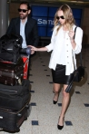 02 Kate Bosworth and fiance Michael Polish touch down at Sydney International Airport