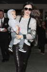 20 Miranda Kerr at LAX with Flynn